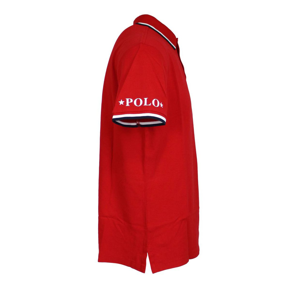Polo slim-fit in cotone con collo a contrasto Rosso Polo Ralph Lauren