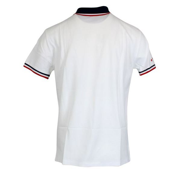 Slim-fit polo shirt in cotton with contrasting collar White Polo Ralph Lauren