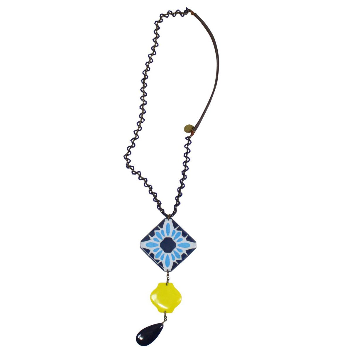 Collana new resin Blu / giallo Maliparmi