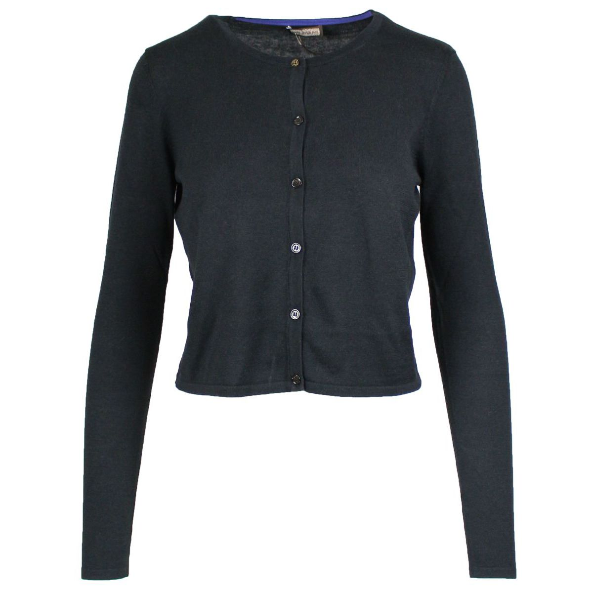 Silk blend cardigan with buttons Black Maliparmi