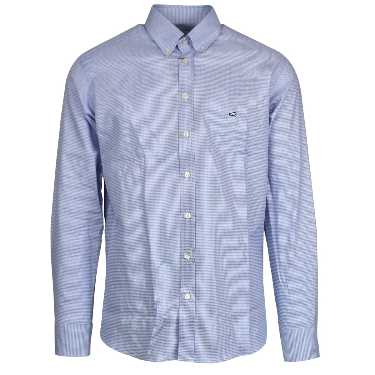 Micro patterned button-down shirt Light blue Etro