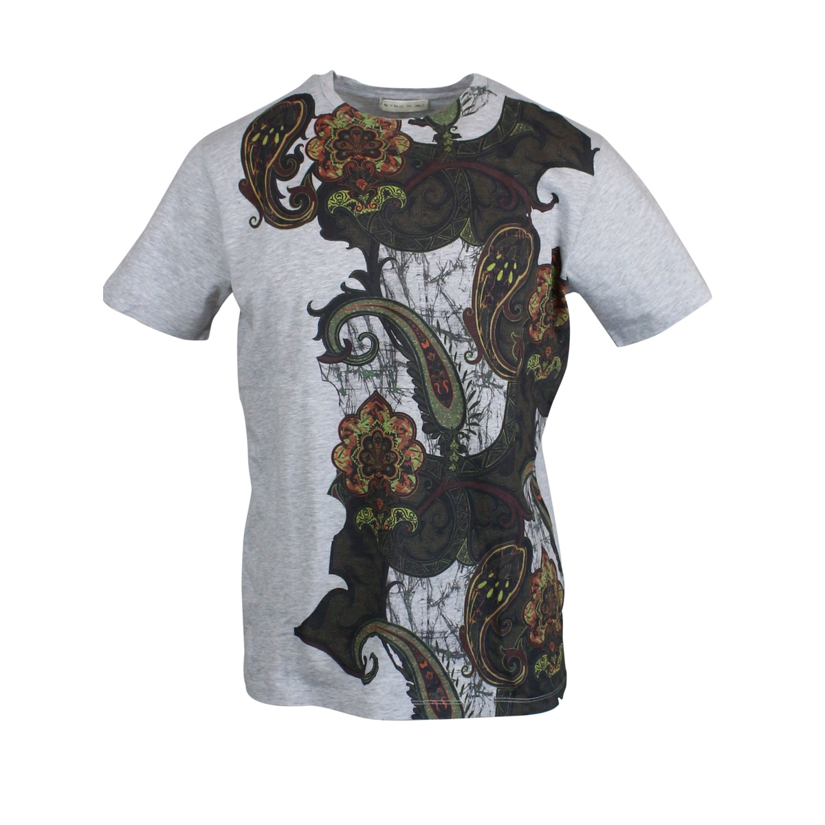 Regular T-shirt with contrast print Grey Etro