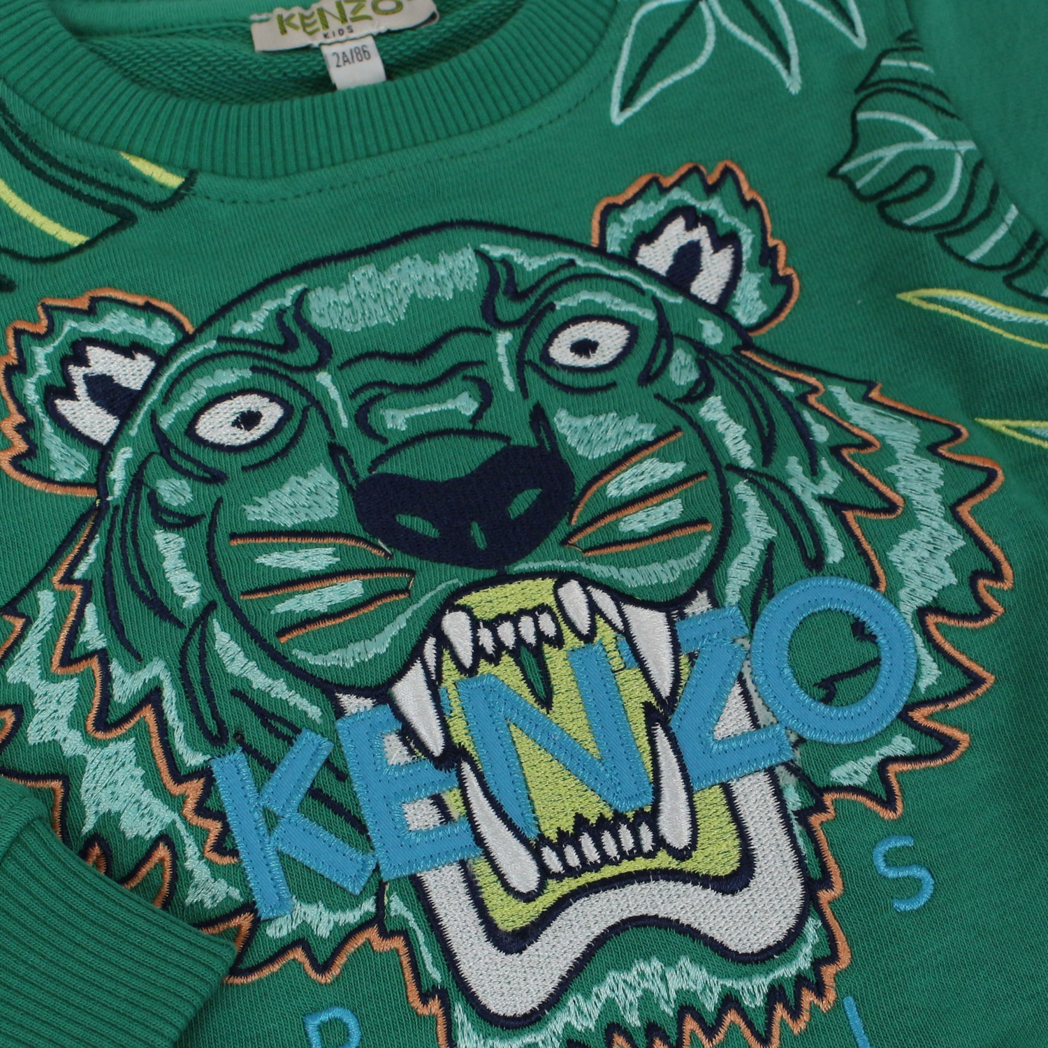 c331791a Sweatshirt with Tiger embroidery Green KENZO Sweatshirt with Tiger  embroidery Green KENZO ...