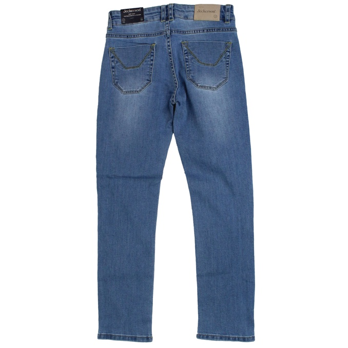 Jeans with patterned patches Light denim Jeckerson