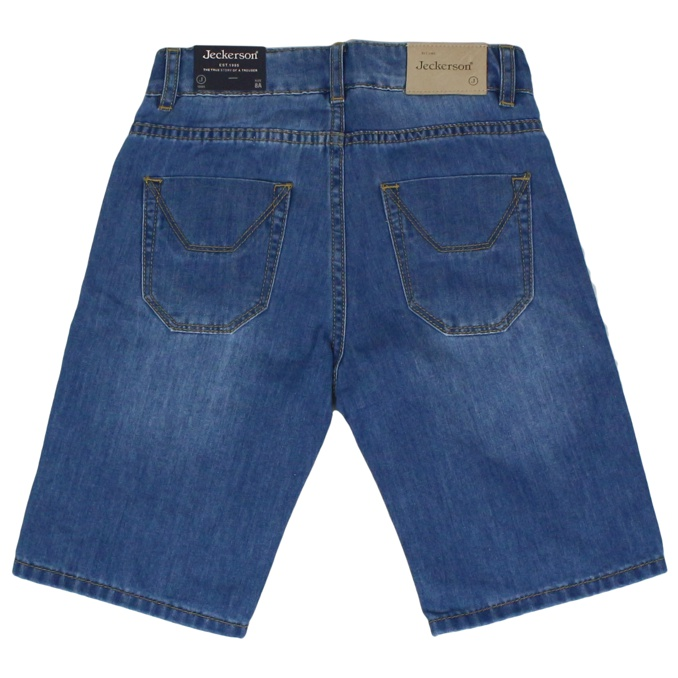 Denim shorts with patches Denim Jeckerson
