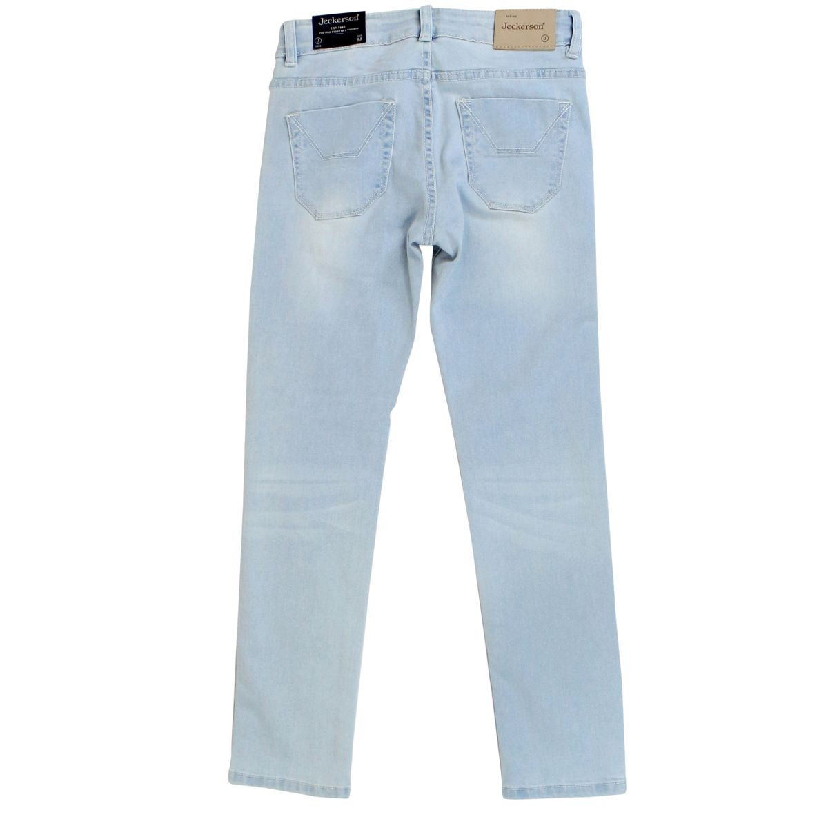 5-pocket stretch trousers with maxi patches Light denim Jeckerson
