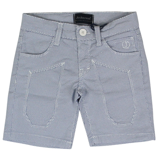 Micro patterned shorts with patches White Jeckerson