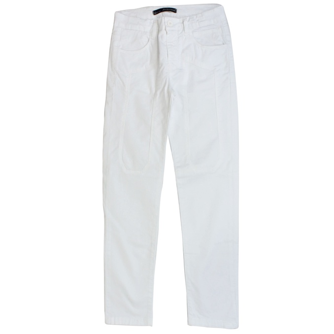 Stretch trousers with patches White Jeckerson