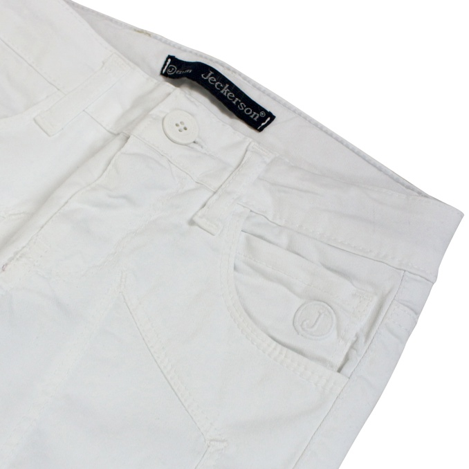 Trousers with maxi patches White Jeckerson