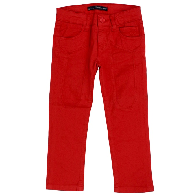 Trousers with maxi patches Red Jeckerson