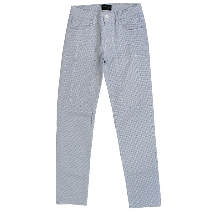 Trousers with micro-patterned patches White Jeckerson