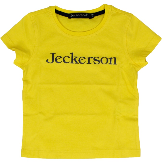 Short sleeve t-shirt with contrast logo Yellow Jeckerson