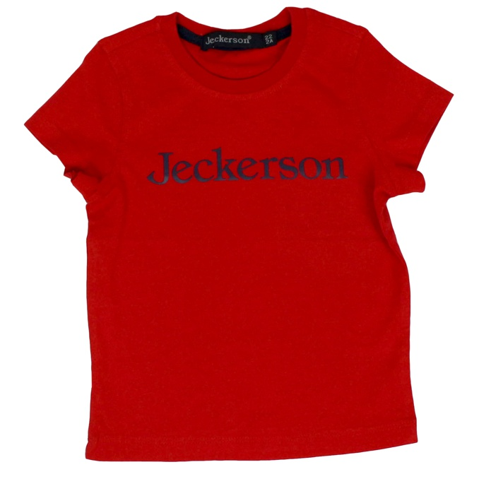 Short sleeve t-shirt with contrast logo Red Jeckerson