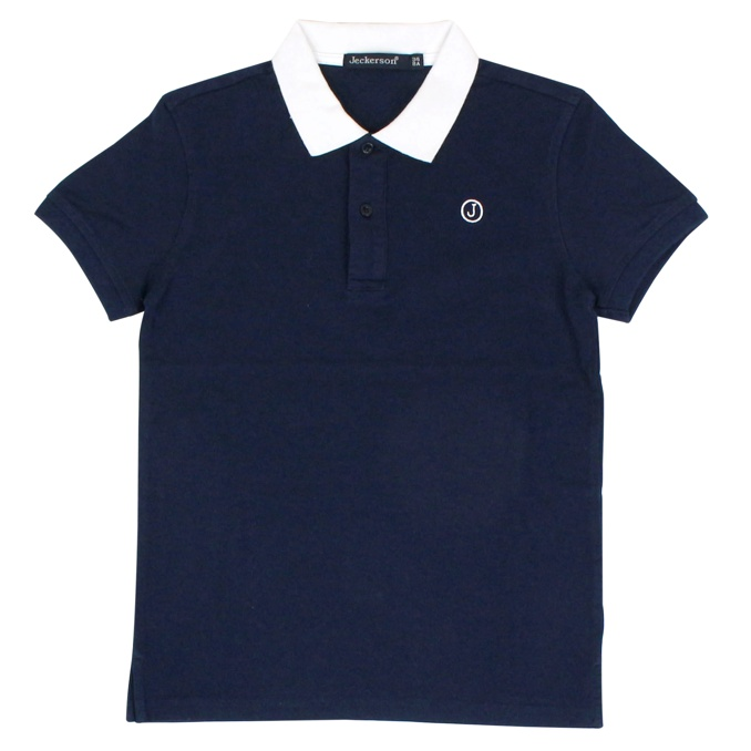 Regular polo shirt with logo Blue / white Jeckerson