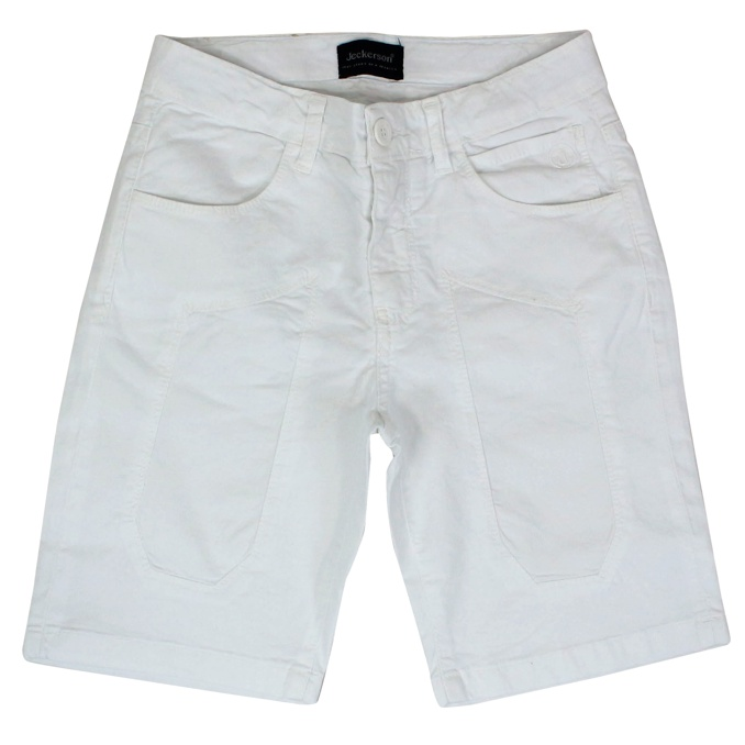 Cotton shorts with patches White Jeckerson