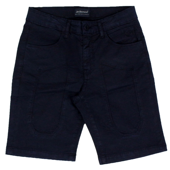 Cotton shorts with patches Blue Jeckerson