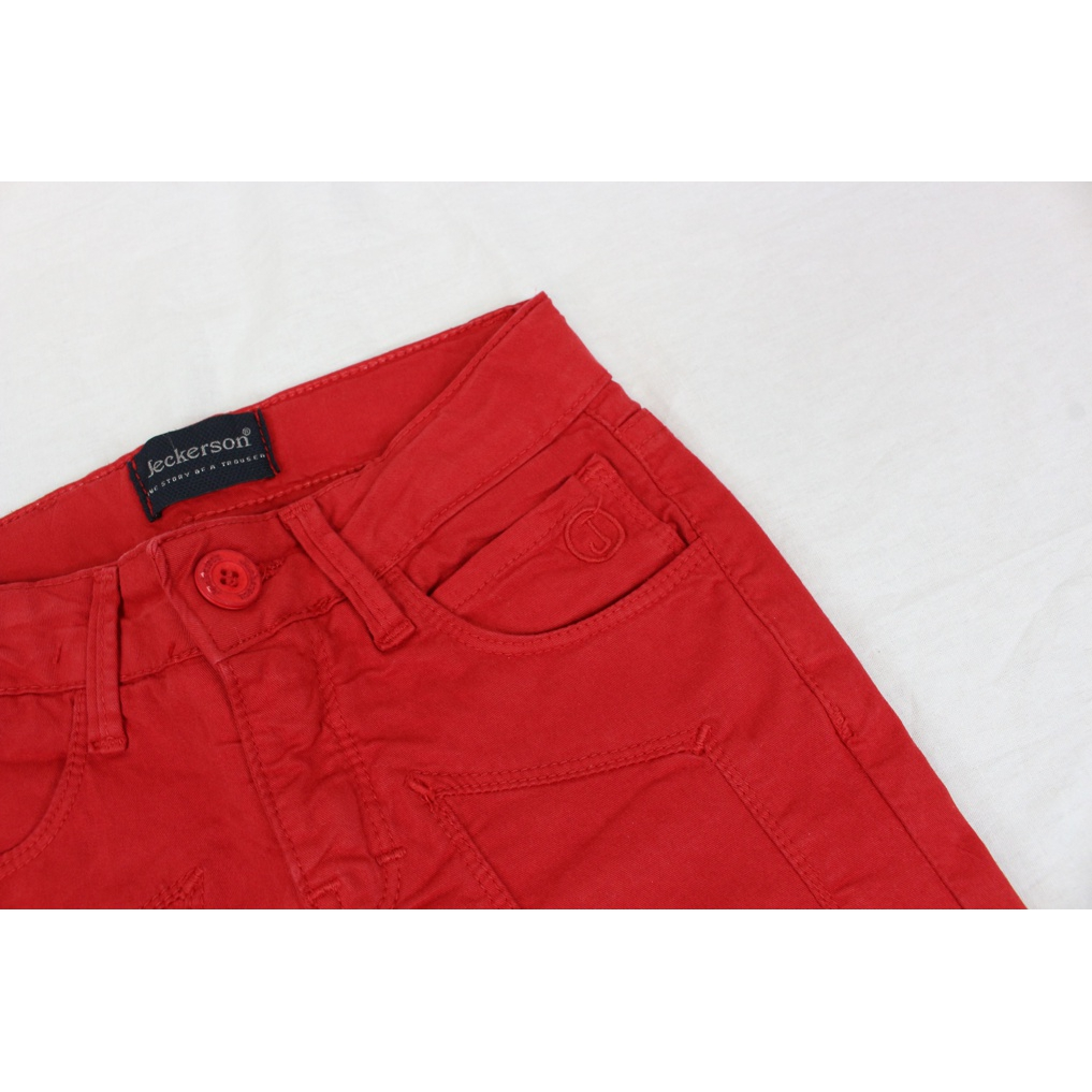 Solid color shorts with logo Red Jeckerson