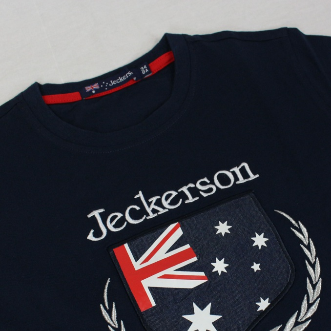 T-shirt with front print Blue Jeckerson