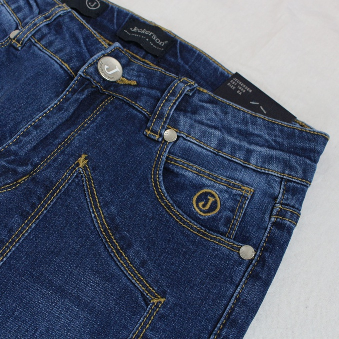 Stretch jeans with patches Denim Jeckerson