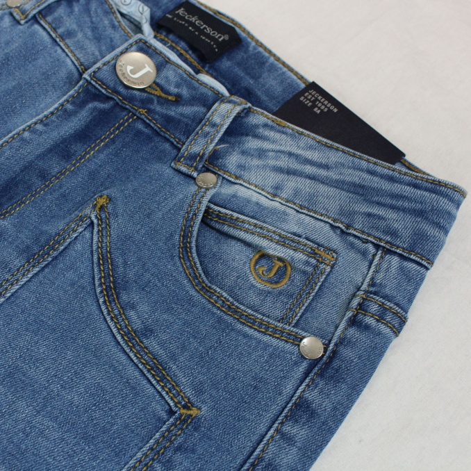 Stretch jeans with front patches Denim Jeckerson