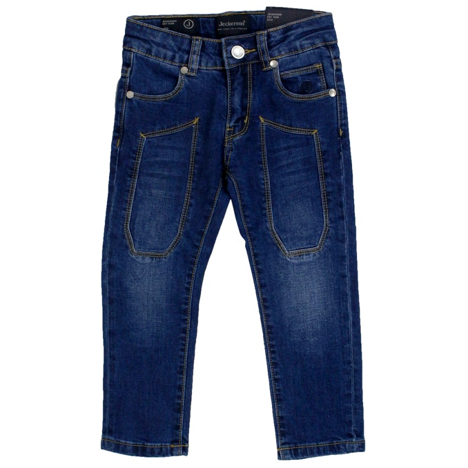 Jeans with stretch denim patches Dark denim Jeckerson