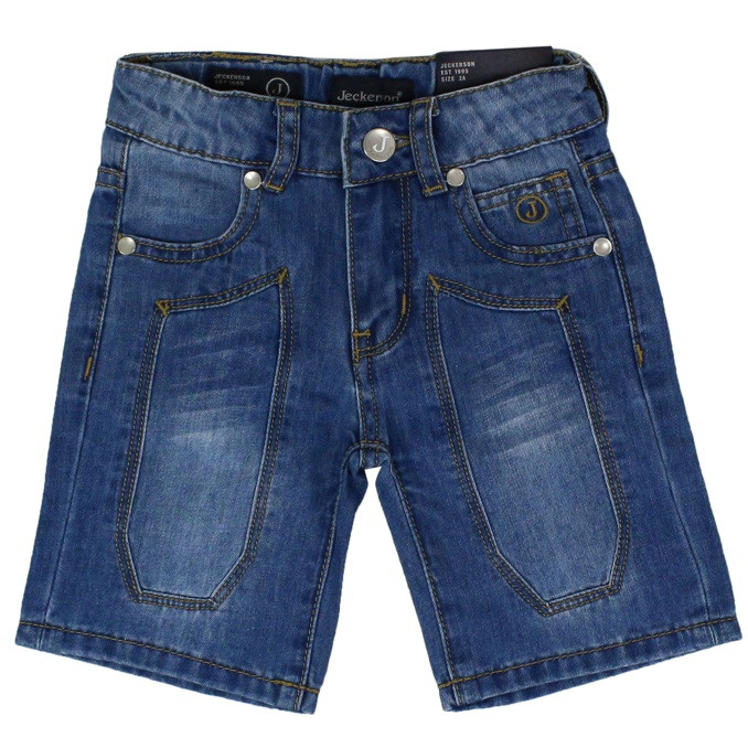 Denim shorts with patches Average denim Jeckerson
