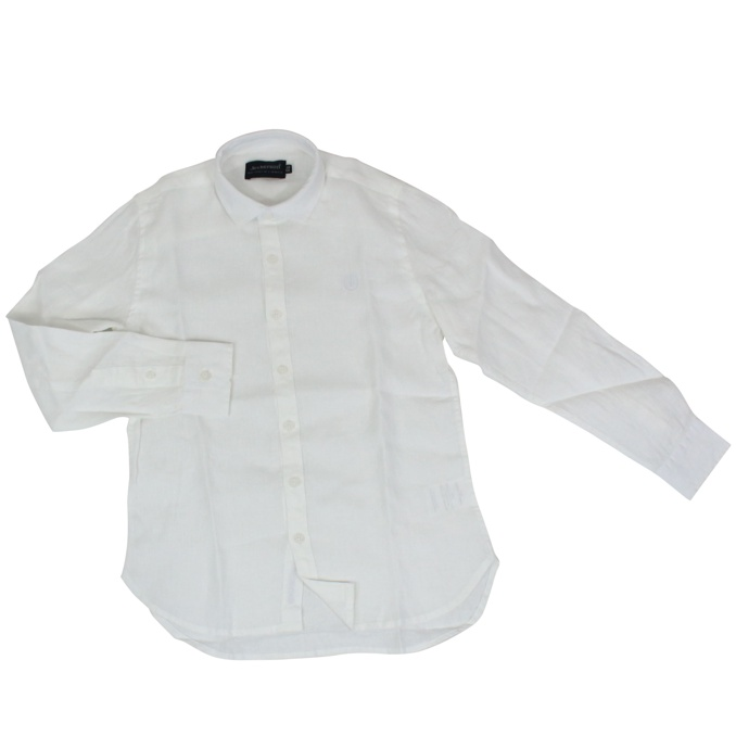Linen shirt with embroidered logo White Jeckerson