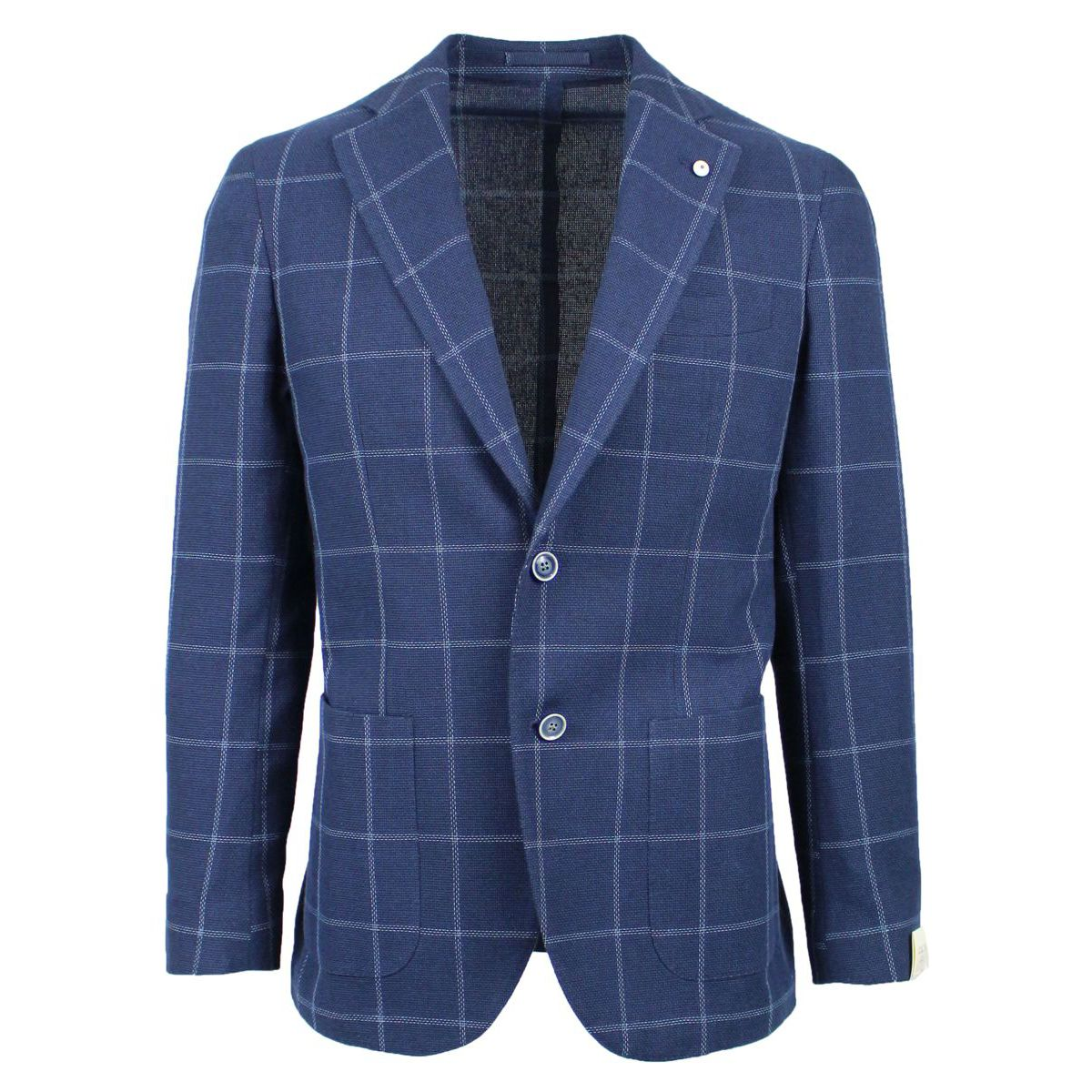 Checked single-breasted jacket Blue L.B.M. 1911