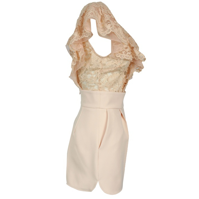 Short overalls in lace Face powder Elisabetta Franchi