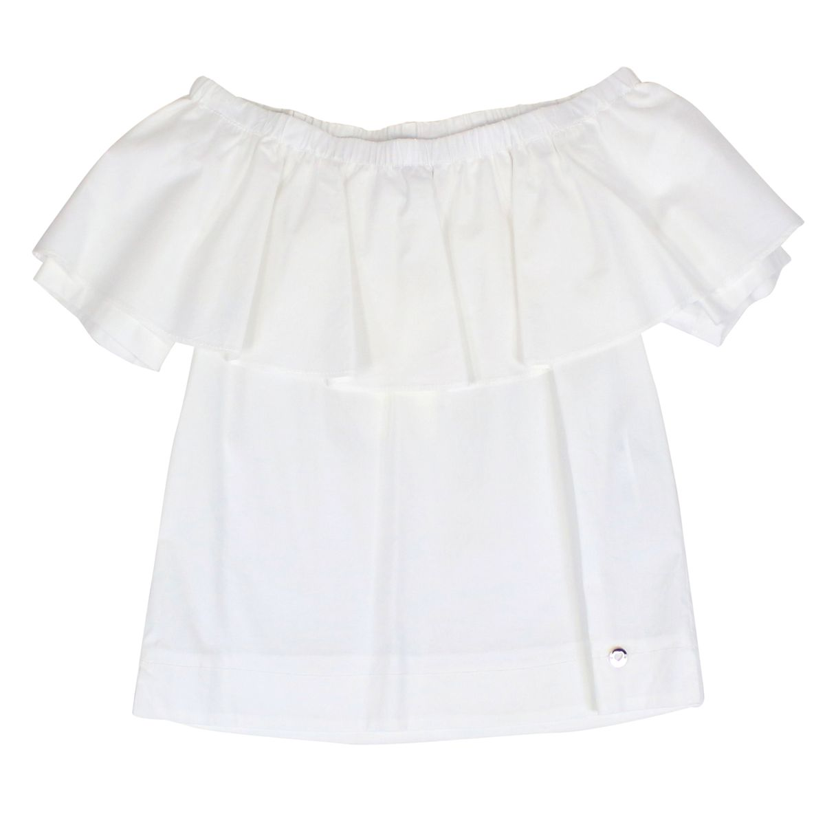 Boat top with flounce White Twin-Set