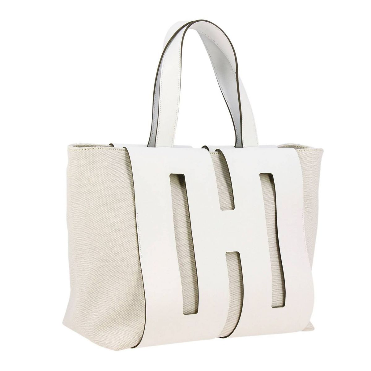 Medium shopping bag White Hogan