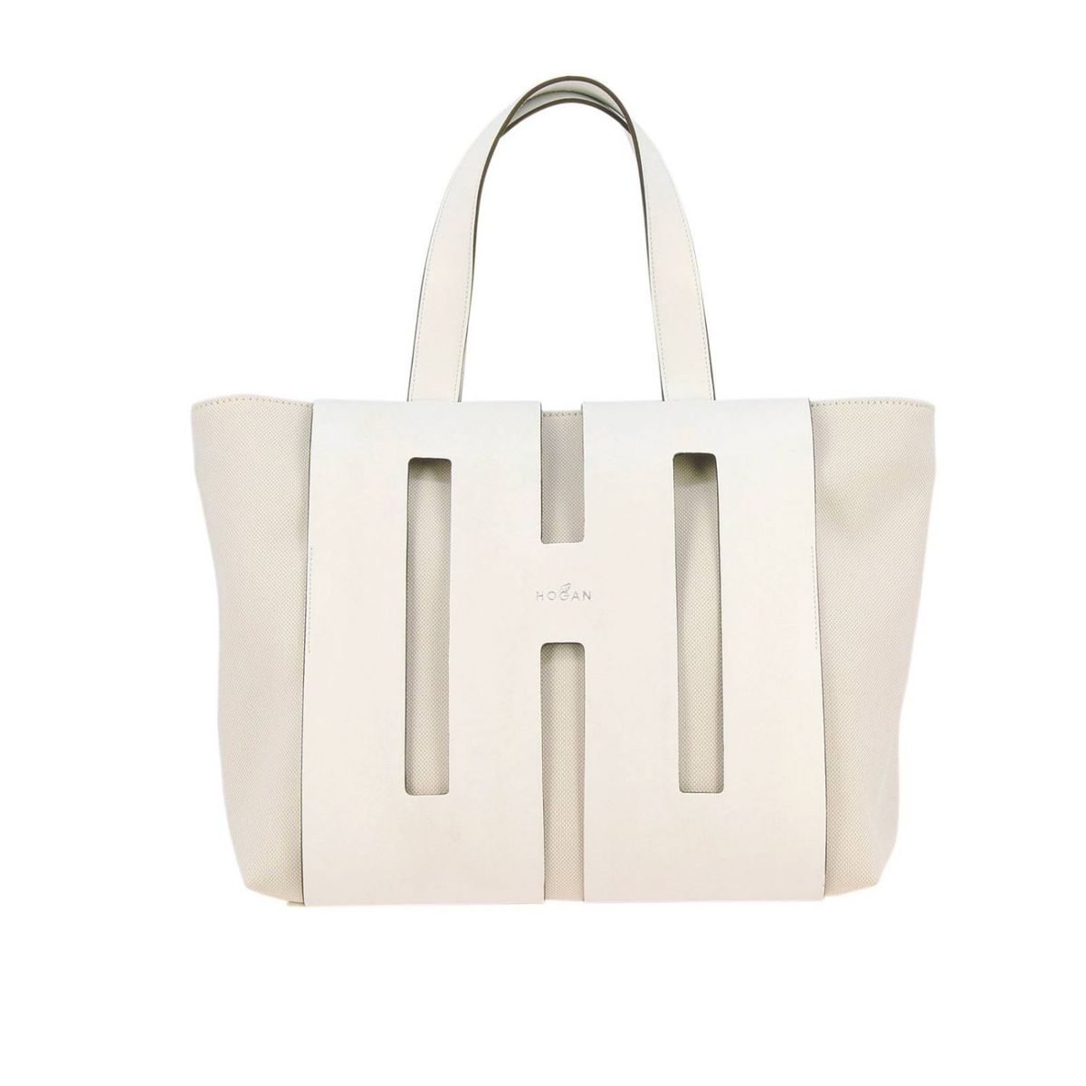 742eb6de8b4761 Borsa Shopping medium Bianco Hogan ...