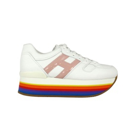 Maxi multicolor platform sneakers 421 White / rainbow Hogan