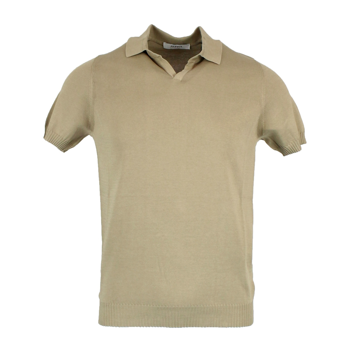 Cotton polo shirt with ribbed edges Rope ALPHA STUDIO