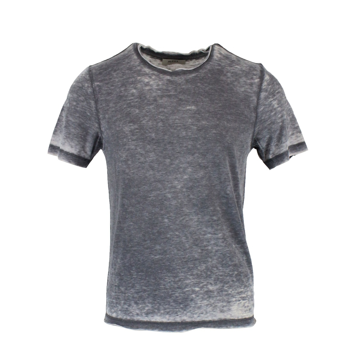 Cotton blend crew neck T-shirt Titanium ALPHA STUDIO