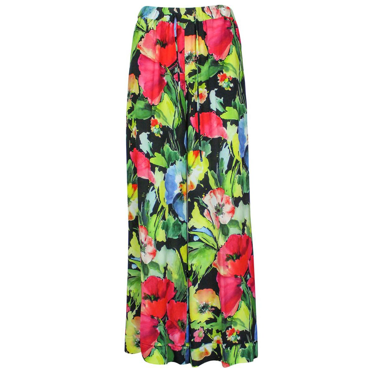 Wide viscose trousers with floral print Fant. floral Twin-Set
