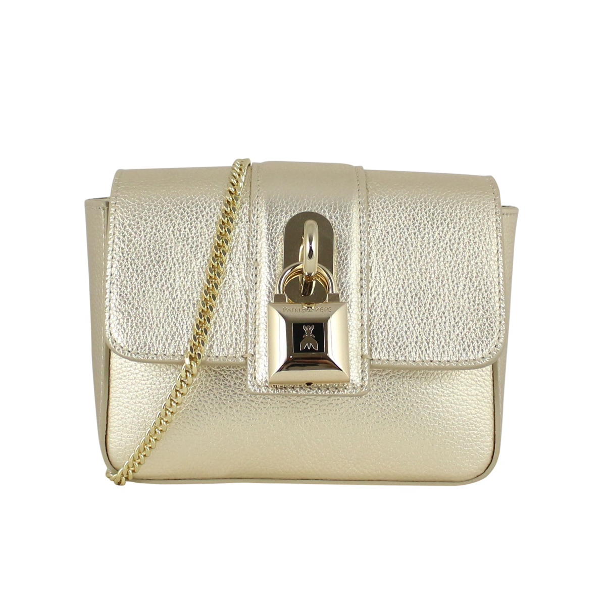 Mini leather bag Platinum Patrizia Pepe