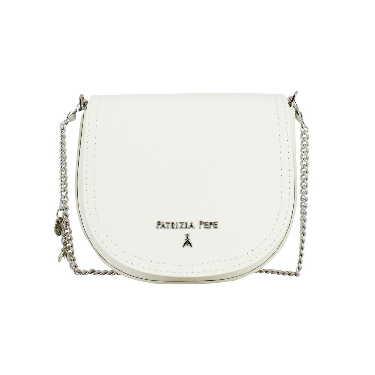 8f466432a4 Shoulder bag in leather with logo White, Patrizia Pepe 2v8752 at79 ...