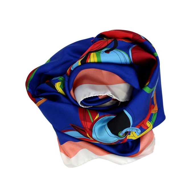 Foulard multicolor in seta Bluette Patrizia Pepe