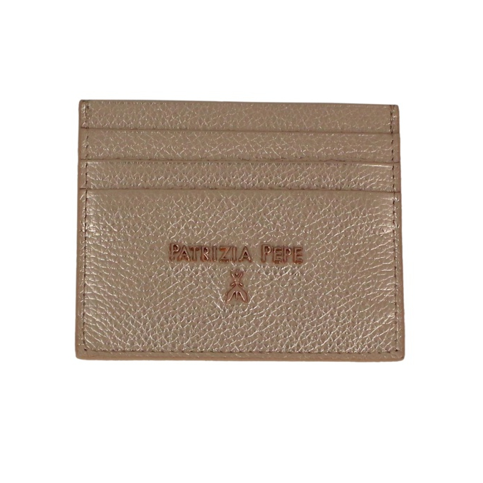 Leather card holder Pink gold Patrizia Pepe