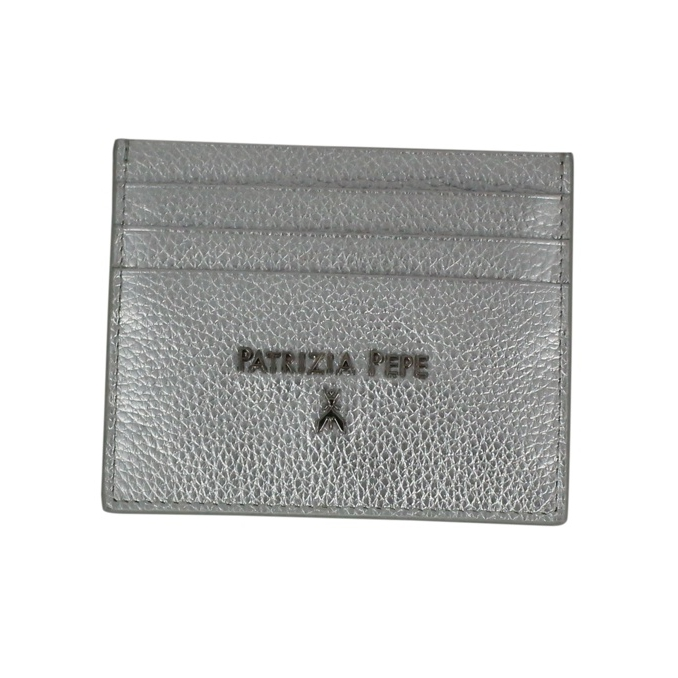 Leather card holder Platinum Patrizia Pepe