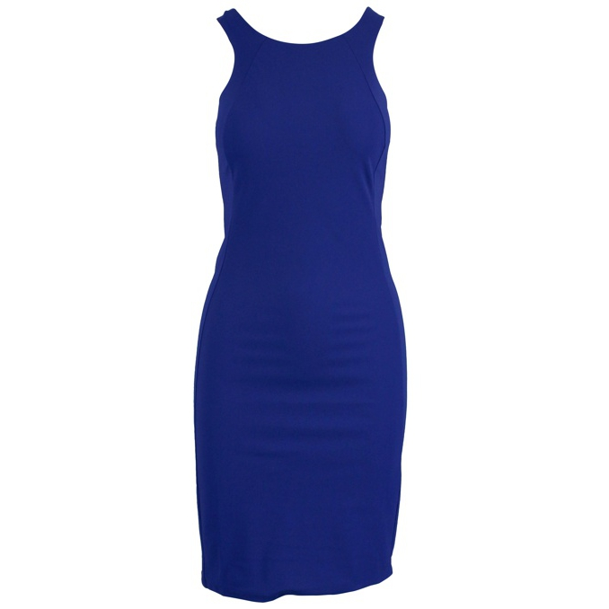 Slim round neck sheath dress Bluette Patrizia Pepe