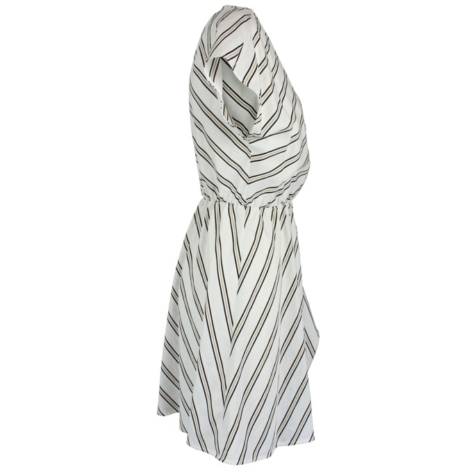 Striped dress in viscose blend Cream Patrizia Pepe