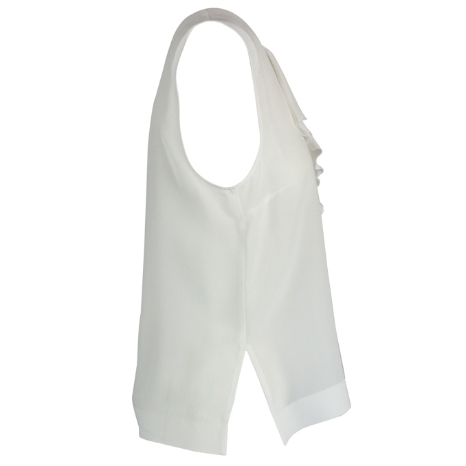 Sleeveless silk shirt White Patrizia Pepe