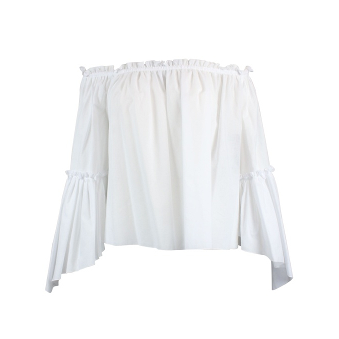 Cotton muslin blouse White Patrizia Pepe