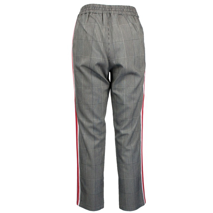 Viscose blend trousers with side band Grey Patrizia Pepe