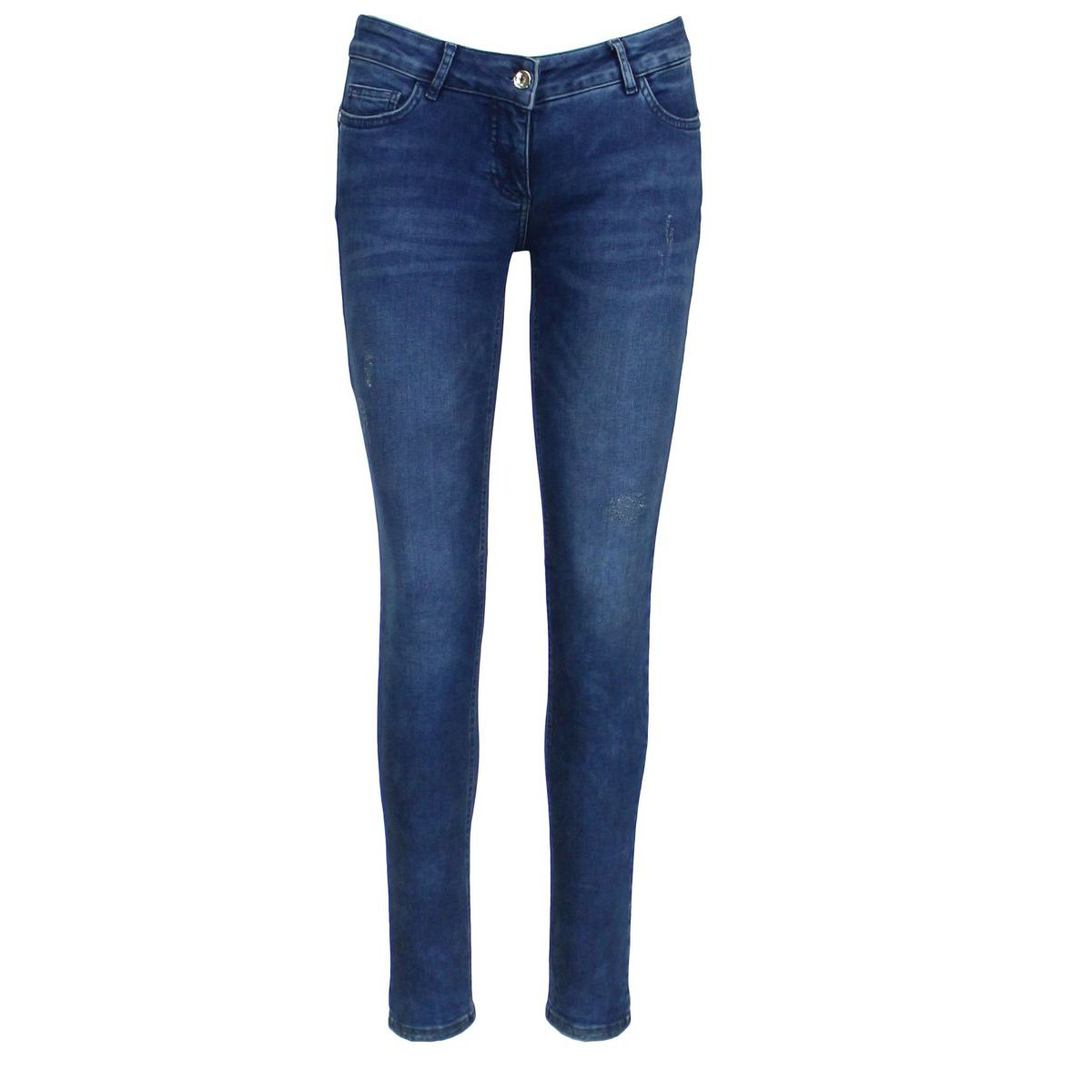 Used effect jeans 5 pockets Dark denim Patrizia Pepe