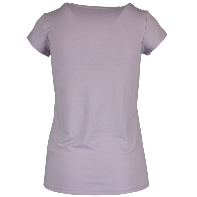 Crew-neck t-shirt with logo Lilac Patrizia Pepe