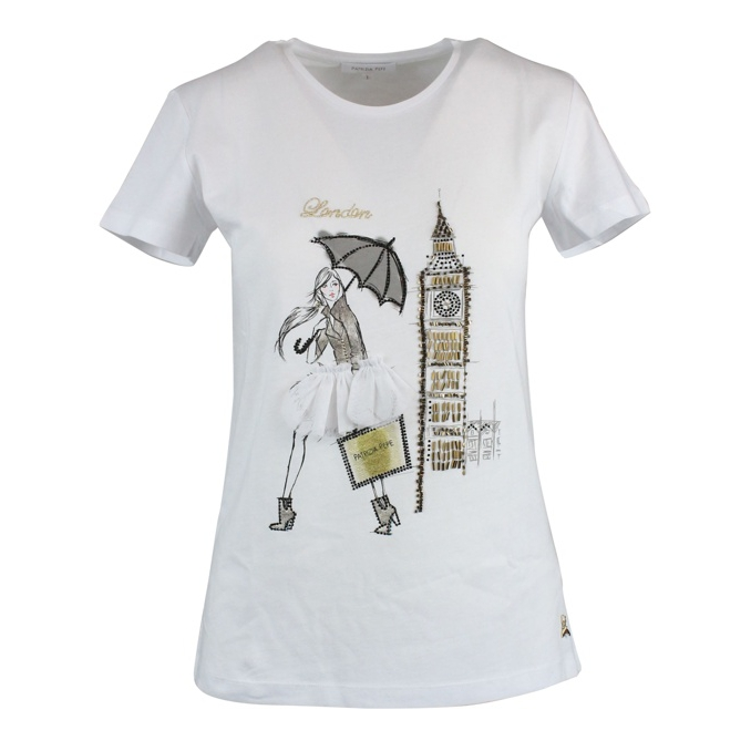 City T-shirt White / london Patrizia Pepe