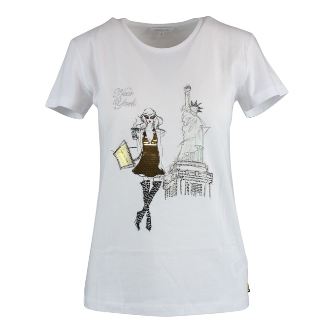 City T-shirt White / ny Patrizia Pepe